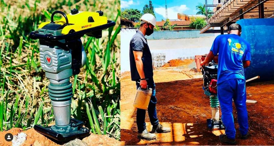 locação de compactador de solo